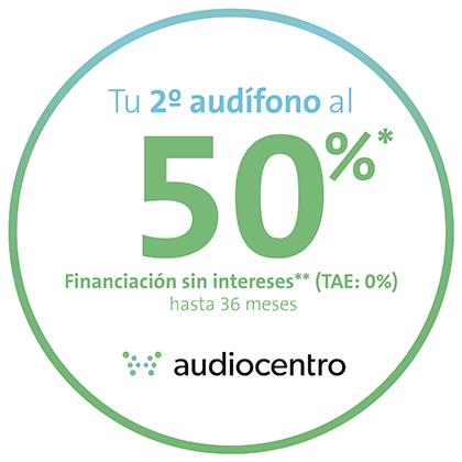 Segundo audífono al 50%